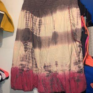 Nwot tye dye skirt with pockets